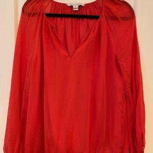 100% silk Diane Von Furstenberg blouse